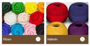 Häkeln, Sticken, Sticken und Co.: das richtige Zubehör finden Sie im Buttinette-Onlineshop