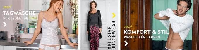 Wäsche und komfortable Loungewear finden Sie bei Calida