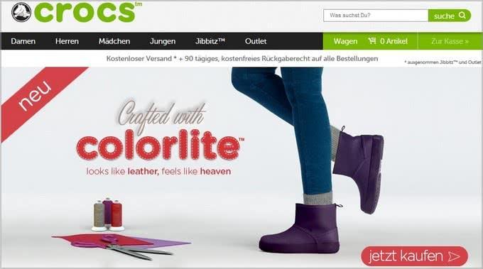 Crocs-Onlineshop