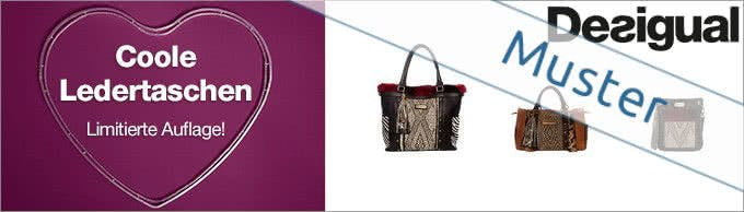 Auch Taschen bestellen Sie mit Ihrem Desigual-Gutschein günstig
