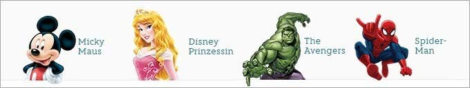 Micky Maus, Marvel-Helden und Disney-Prinzessinnen treffen Sie im Disney-Store