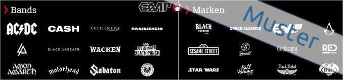 Bands und Marken aus dem Sortiment von EMP