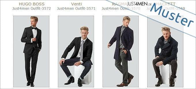 Verschiedene Komplett-Outfits bei Just4Men