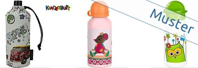 Für die große Pause: Trinkflaschen bekommen Sie bei Kinderbutt