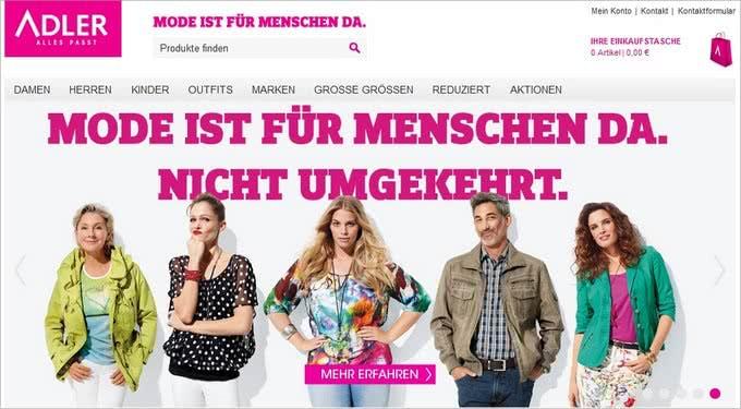 Onlineshop von Adler
