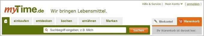 Online-Supermarkt myTime.de