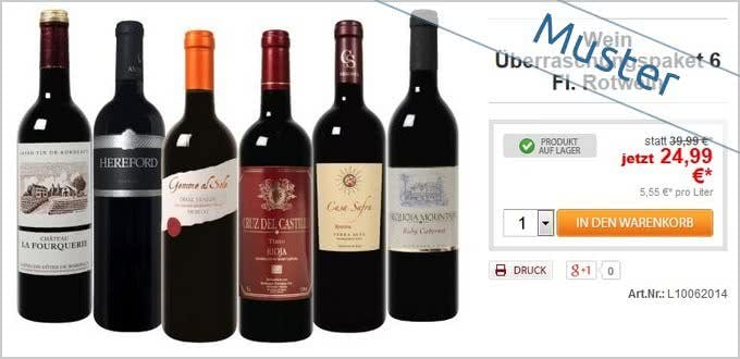 Probierpakete bei Weinvorteil